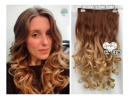 cabelo tic tac 6at16 chocolate ombre hair california 60cm on