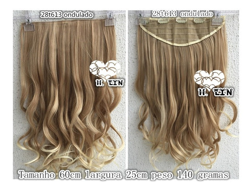 cabelo tic tac californiana 60cm organico loiro ombre 28/613