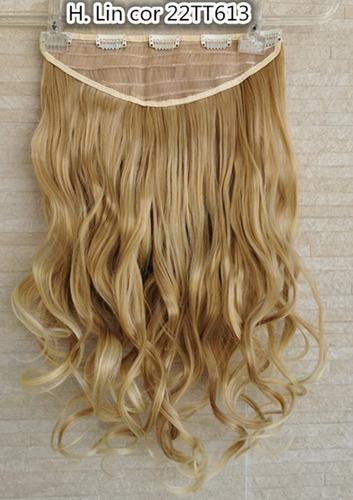 cabelo tic tac cor 22/613 loiro perola ombre hair aplique fi