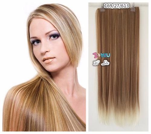 cabelo tic tac fibra japonesa cor 27/613# loiro manteiga apl
