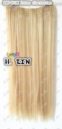 cabelo tic tac fibra organico 60cm cor 613 loiro platiando