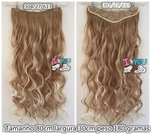 cabelo tic tac ombre hair 27/613 loiro manteiga 90cm 180gram