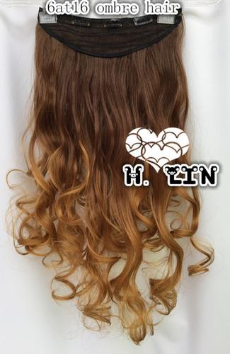 cabelo tic tac organico 60cm 6at16 castanho chocolate ombre