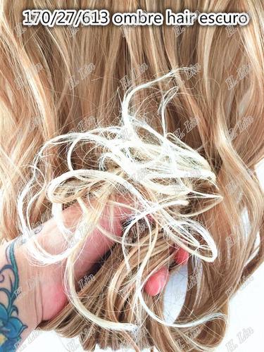 cabelo tictac 80cm 140g 27/613 ombre hair californiana loiro
