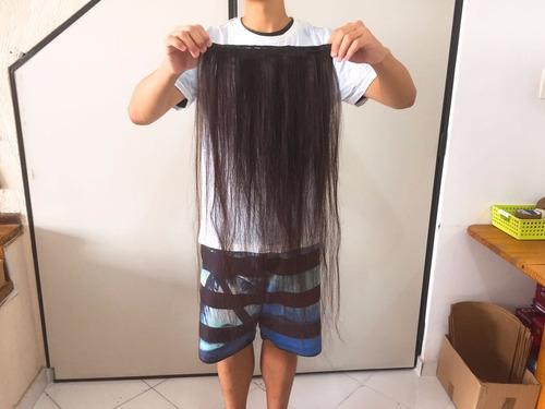cabelo virgem humano natural telado 1 metro 75 cm 50 gramas
