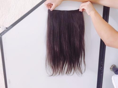 cabelo virgem humano natural tic tac 55 cm 100 gramas