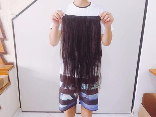 cabelo virgem humano natural tic tac 65 cm 100 gramas
