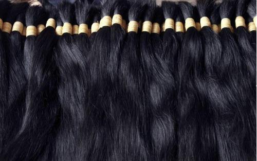 cabelos naturais liso 70 cm 50 gramas.