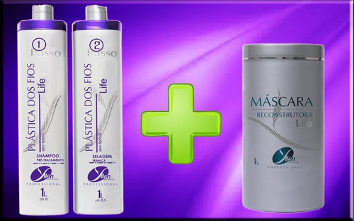 cabelos - progressiva s/ formol + creme de hidratação