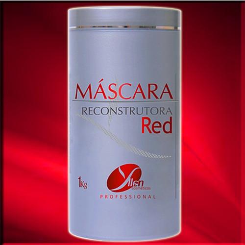 cabelos vermelho - máscara reconstrutora matizadora red 1kg