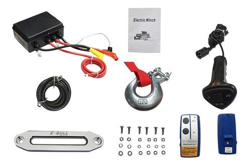 cabestrante eléctrico inalámbrico x-bull 12v 13000lb