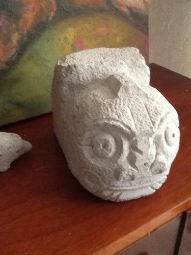 cabeza clava de piedra tallada nueva/ hago cambio o trueque