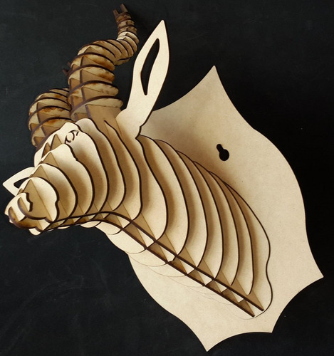 cabeza de antílope mdf cabeza de animal trofeo rompecabezas