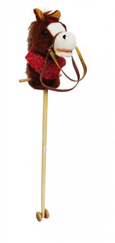cabeza de caballo de peluche con música para niños