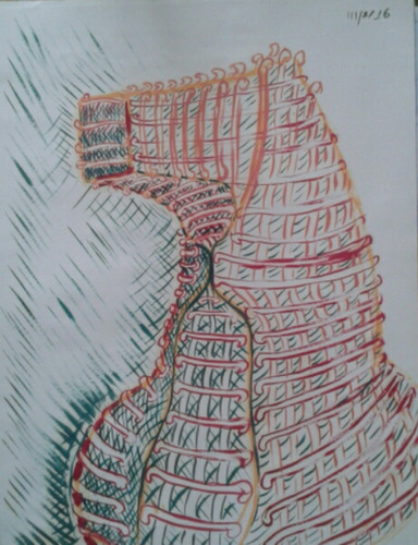 cabeza de caballo_dibujo al oleo seco