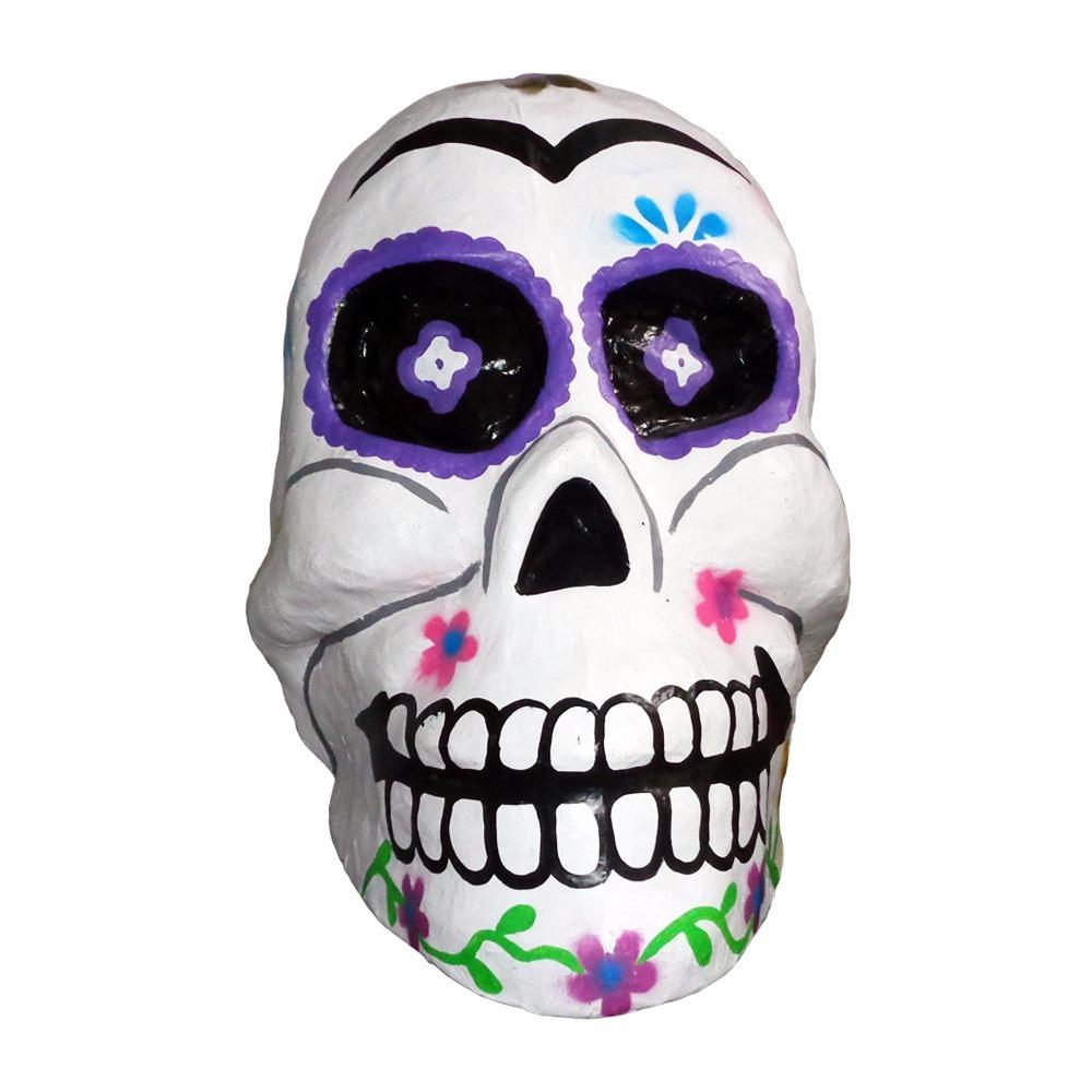 Cabeza De Calavera Decoracion De Dia De Muertos Piñata Grand