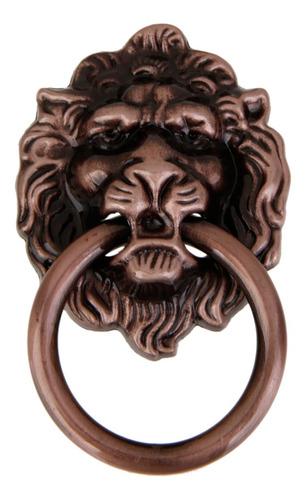 cabeza de león de la vendimia tirador de cajón puerta del