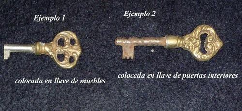 cabeza de llave de estilo de bronce n° 18 (herraje antiguo)