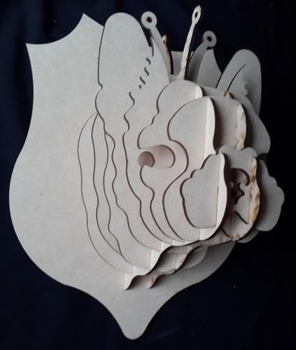 cabeza de perro mdf cabeza de animal trofeo rompecabezas