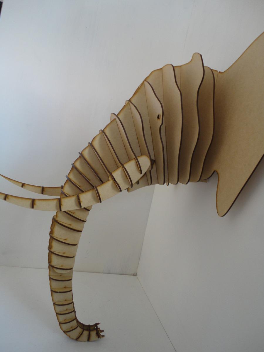 Cabeza elefante mdf cabeza de animal trofeo rompecabezas for Muebles elefante