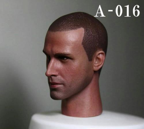 cabeza escala 1/6, 12 pulgadas