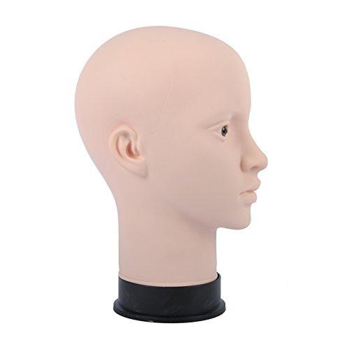 cabeza maniquí calvo cosmetología profesional femenino hacer