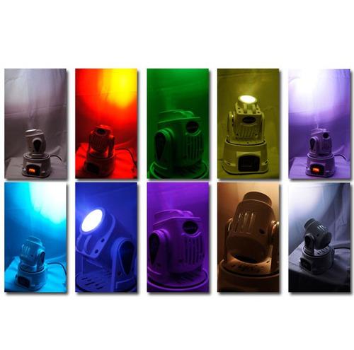 cabeza movil de iluminacion led rgb variedad de gobos xaris.