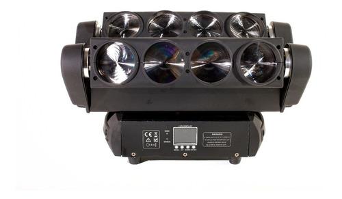 cabeza móvil led spider beam 360° rgbw dmx 8x10w luz disco