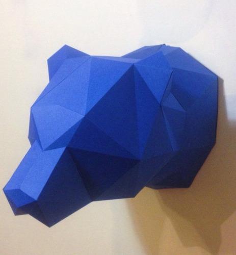 cabeza oso armable 3d plantillas-papercraft