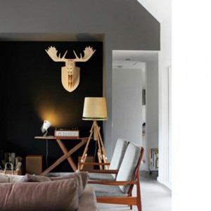 cabeza rinoceronte 3d encastrable grande paraiso decoracion