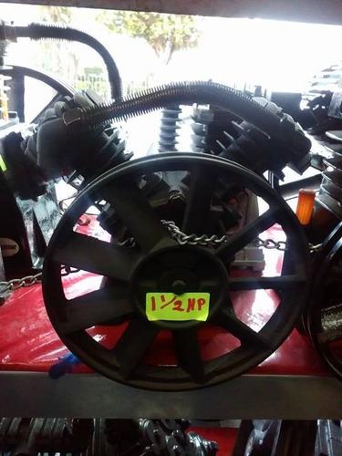 cabezal 1.5hp p/compresora de aire 2 pis en  v  ideal 108lts