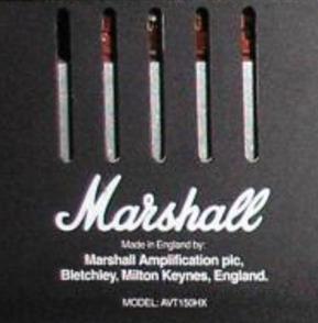 cabezal amplificador marshall avt150h + gabinete 2x12 150w