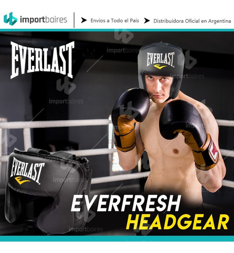 cabezal boxeo everlast  protector pomulos mejilla training