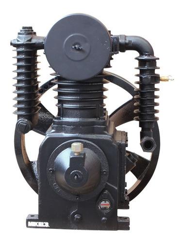 cabezal compresor 5hp 2 etapas motor potente mikels