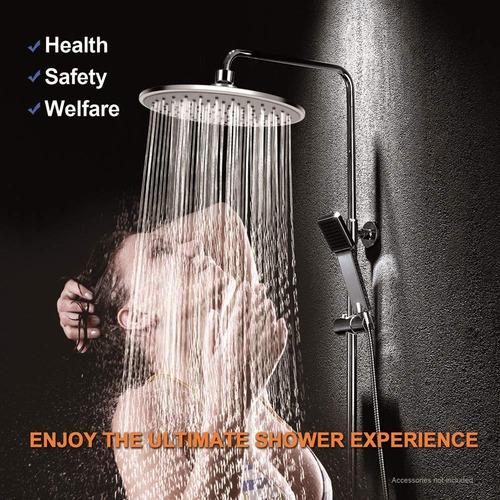 cabezal de ducha /acero inoxidable delgada alta presión 12in