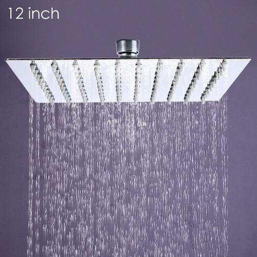 cabezal de ducha cuadrado de 12 in con presión alta