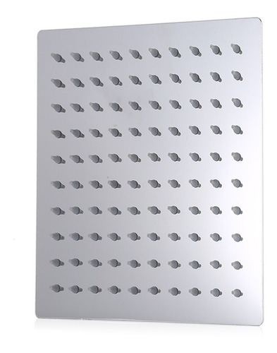 cabezal de ducha d/acero inoxidable delgada alta presión 8in