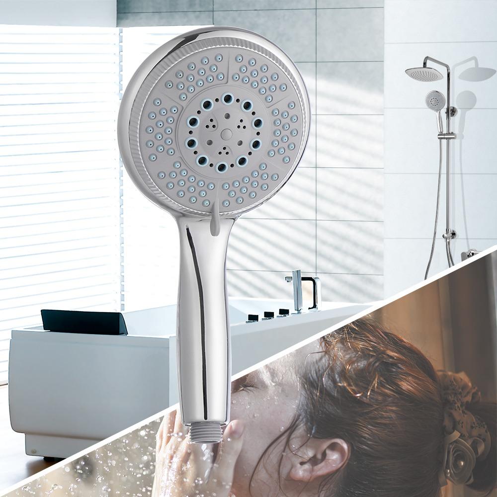 leoboone Color plata cromado cabezal de ducha con 3 Funci/ón Modo spray anti-cal universal port/átil Inicio Ba/ño de ahorro de agua accesorios