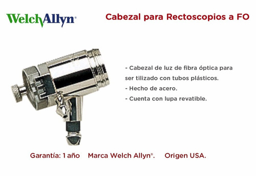 cabezal de luz welch allyn para rectoscopios a fo