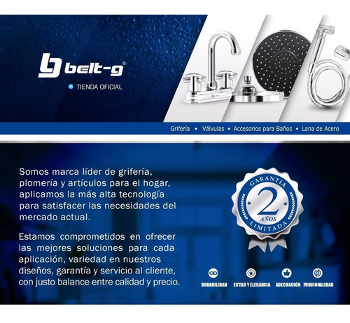 cabezal extraible para monomando duet belt-g blue gri-1752