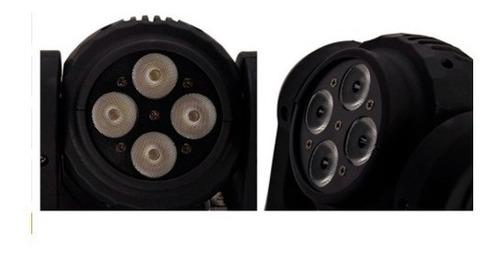 cabezal led doble cara 4 led x 10w rgb movil robot