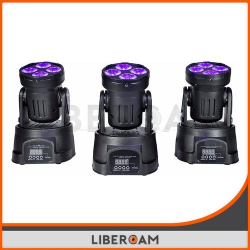 cabezal móvil led beam 4 led x 10w rgbw dj fiestas prof.
