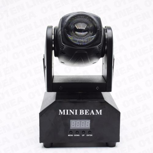 cabezal movil mini beam spot led robot dmx audioritmico rgbw