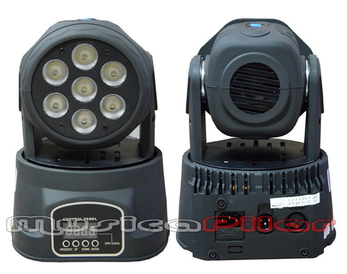 cabezal movil seven star lm70 7 led musica pilar