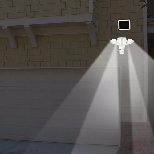 cabezal triple solar movimiento activado luz de 150 led