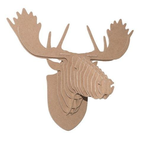 cabezas de animales decorativas alce 6mm mdf