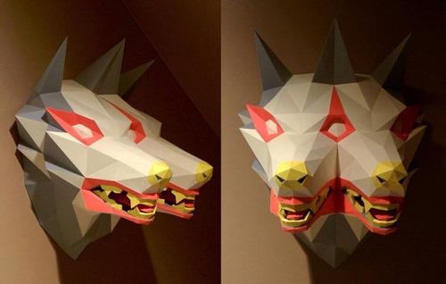 cabezas de lobo armables 3 en 1