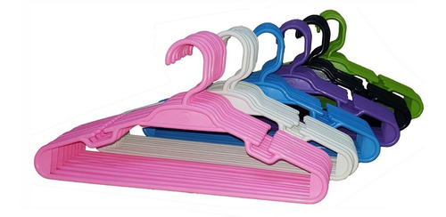 cabide colorido infantil ( 50 unidades )