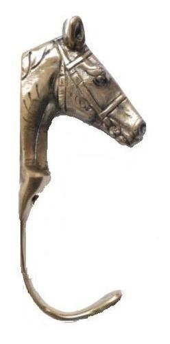 cabide pendurador para parede pescoço cavalo em bronze