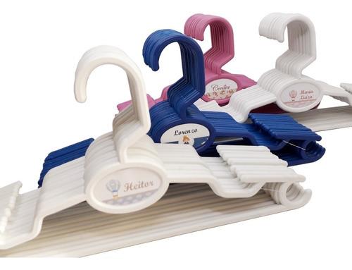 cabide personalizado infantil - 50 unid. ( bebe e criança )